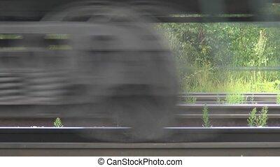 mouvement, trains