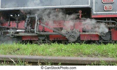 mouvement, transmission, cadre, train, vapeur