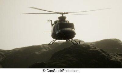 mouvement, vietnam, etats unis, hélicoptère, militaire, lent