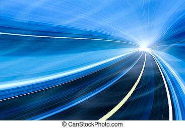 mouvement, vitesse, illustration, résumé