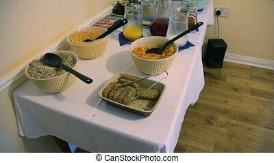 mouvements, tables, appareil photo, café, vide, nourriture