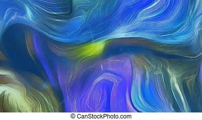 movement., résumé, tableau couleur