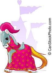 moyen-âge, cheval