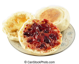 muffins anglais, gelée