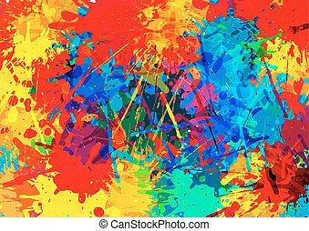 multi coloré, éclaboussure, illustration, arrière-plan., vecteur, conception