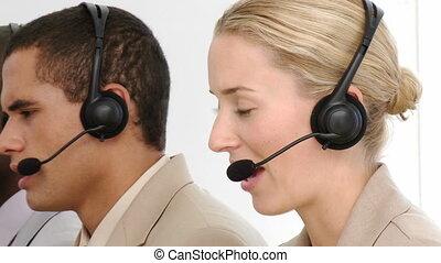 multi-etnic, équipe, fonctionnement, business