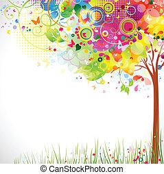 multicolore, arbre