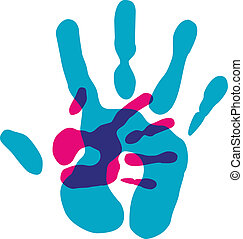 multicolore, diversité, transparence, mains