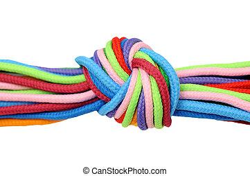 multicolore, lin, corde