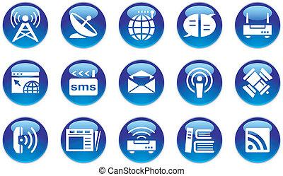 multimedia/communication, ensemble, icône
