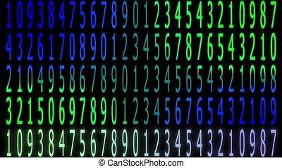 multiple, nombre, aléatoire, arrière-plan animation, créé