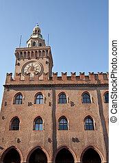 municipio, piazza, -, maggiore, orologio