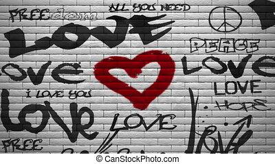 mur, alpha, explosion, graffiti