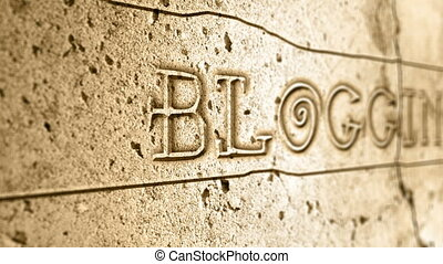 mur, alphabet, mot, blogging, égyptien