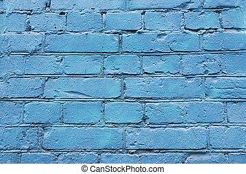 mur bleu, brique