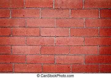 mur, brique, détail