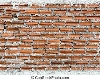 mur, brique, fond, sale, texture