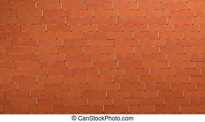 mur, brique, rouges, briser