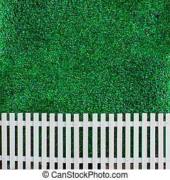 mur, buisson, fond blanc, barrière