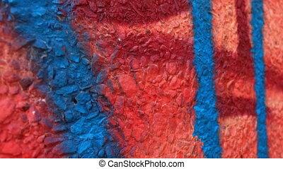 mur, coloré, tableaux
