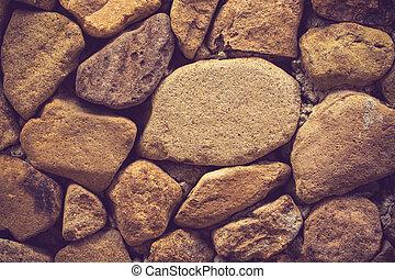mur, couleur, texture pierre, vendange