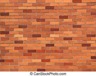 mur, fond, brique