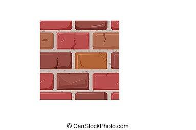 mur, fond, isolé, brique blanche, texture