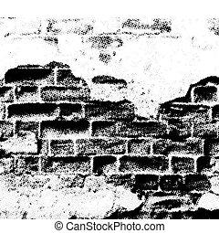 mur, grunge, vecteur