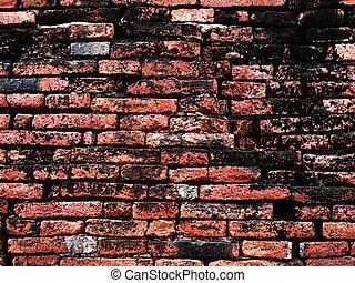 mur, grunge, vieux, fond