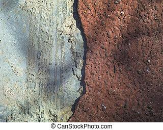 mur, intéressant, vieux, texture