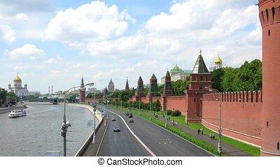 mur, moscou, défaillance temps, kremlin