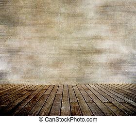 mur, paneled, bois, grunge, plancher