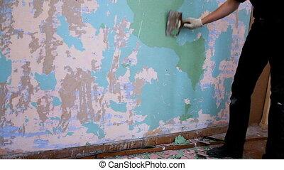 mur, peinture, clair, avant