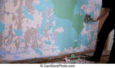 mur, peinture, clair, vieux
