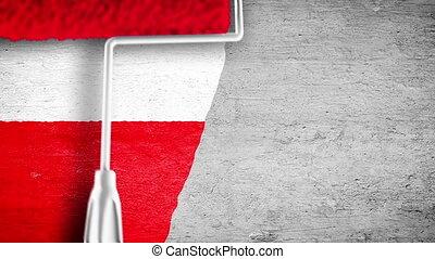 mur, peinture, drapeau, -, pl