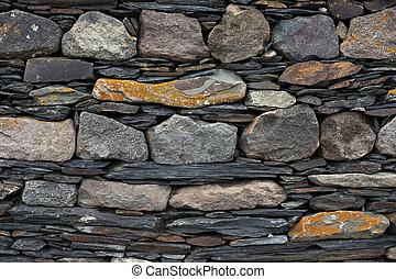 mur, pierre, ancien, texture