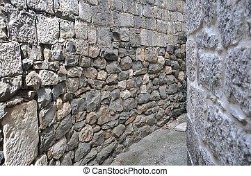 mur, pierre, fond