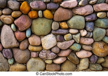 mur, pierre, fond, multi-coloré