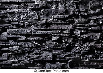 mur, pierre, gris, texture