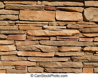 mur, pierre, posé couches