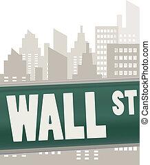 mur, plaque, rue, vert, signe