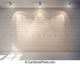 mur, réaliste, brique
