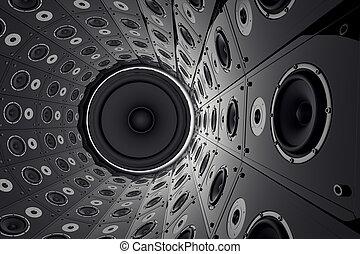 mur, speakers.