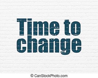 mur, timeline, concept:, fond, temps, changement