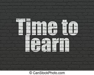 mur, timeline, temps, fond, apprendre, concept: