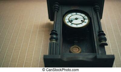 mur, vendange, horloge