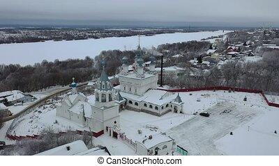 murom., ville, monastère, sur, russie, résurrection, vol