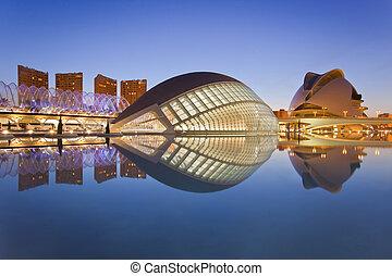 musée science, valencia's, ville, arts