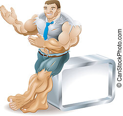musculaire, homme affaires