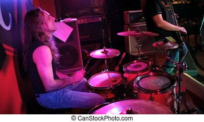 musicien, jeux, tambours